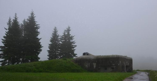 Fort in fog