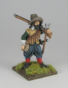 Musketeer musket on shoulder 2